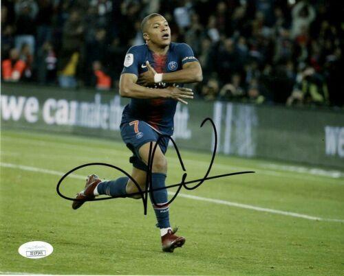 PSG Kylian Mbappe Autographed Signed 8x10 Photo JSA COA #3