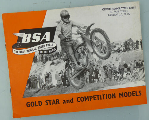 1953 BSA MOTORCYCLE BROCHURE BOOK CATALOG GOLDSTAR B32 B34 SCRAMBLES CLUBMAN +