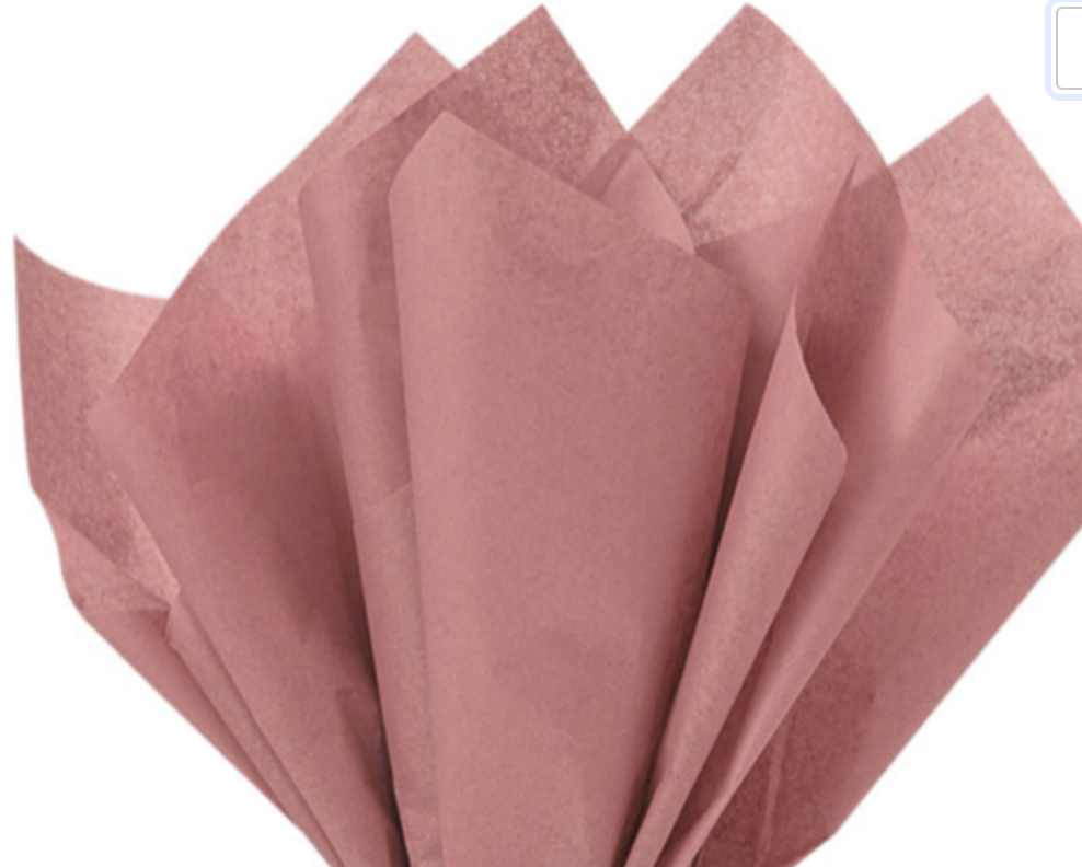 """Rose Gold Gift Wrap Tissue Paper, LARGE 20"""" by 30""""  24 Sheet"""