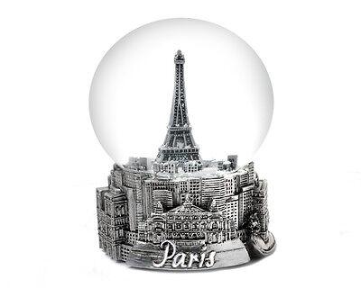 PARIS IN SILVER - EXCLUSIVE 45MM MINI SNOW GLOBE-NEW