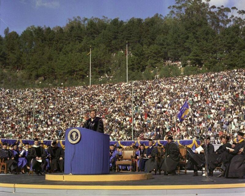 President John F. Kennedy gives speech at UC Berkeley New 8x10 Photo