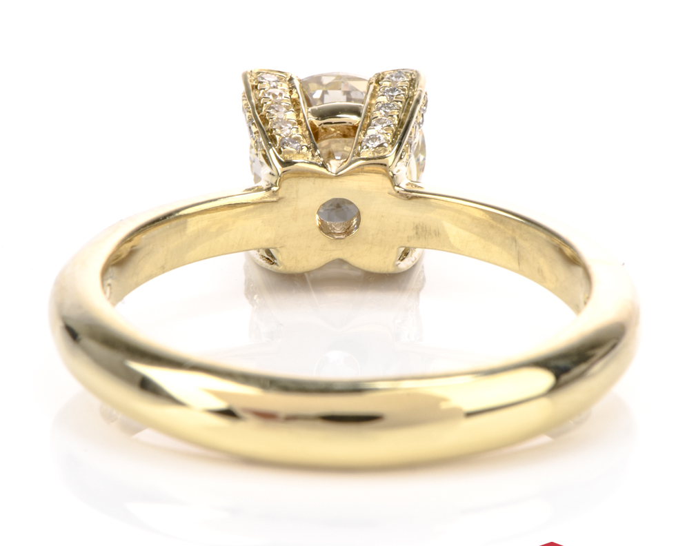 CHIMENTO GIA VVS2/L 1.07ct Center Diamond Solitair 18k Gold Ring 1
