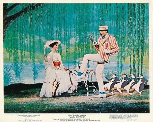 JULIE ANDREWS DICK VAN DYKE Penguins Vintage 1964 MARY POPPINS Walt Disney Photo