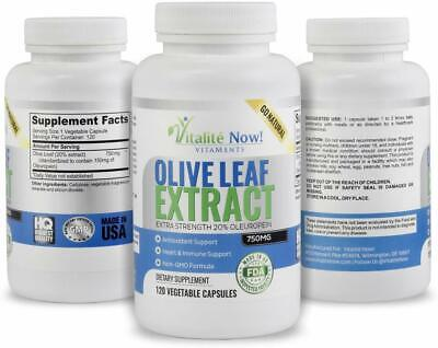 Super Strength Best Olive Leaf Extract 20% Oleuropein Anti-inflammatory 120