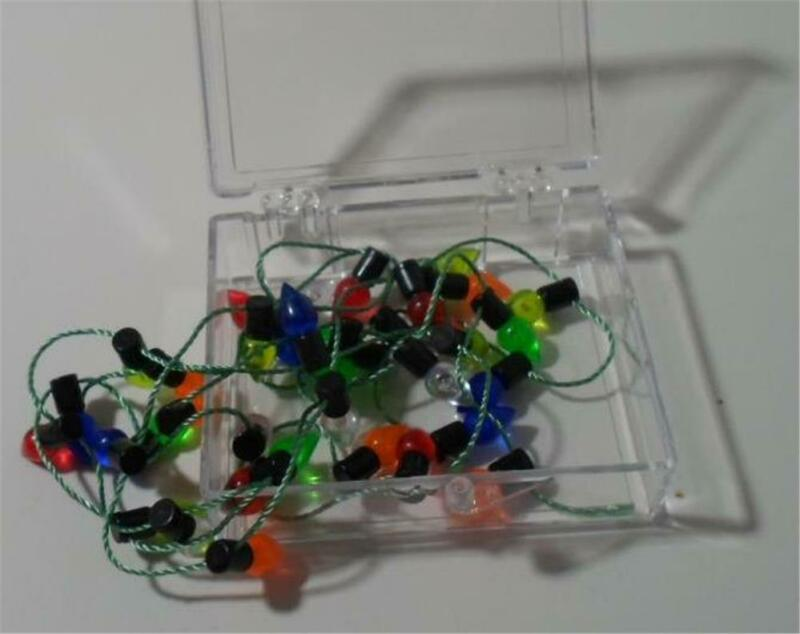 """Dollhouse Miniature Christmas Lights 36""""  Non-electric Scale 1:12 Very Pretty"""