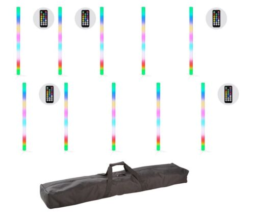 JMAZ Galaxy Tube Rechargeable LED SMD 5050 LEDs (RGB) 10-Pak w/ Carrying Bag+IR
