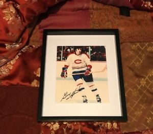 Guy lapointe Montreal Canadiens  signed and framed photo