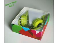 Cool Foldable Wired Green/Lime Headphones for Apple iPhone, iPad, Android Samsung, laptop, PC (New)