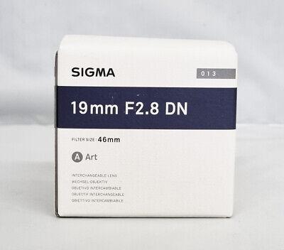 Sigma 19mm f2.8 DN Art Lens19/2.8 Sony E-mount - BLACK