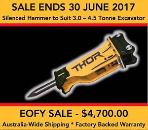 SILENCED HYDRAULIC ROCK HAMMER TO SUIT 3.0 – 4.5 TONNE EXCAVATOR Tomago Port Stephens Area Preview