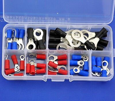 9 Types Ring Crimp Wire Terminal Assortment Kit Connector Vinyl-insulated.