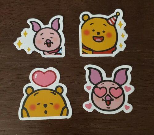 Disney Stickers - Lot Of 4 - Winnie The Pooh Piglet - $0.99