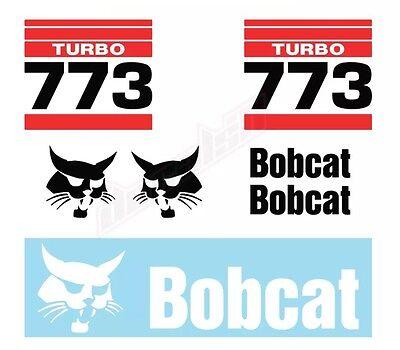 Bobcat 773 Skid Steer Set Vinyl Decal Sticker Aftermarket - Free Shipping
