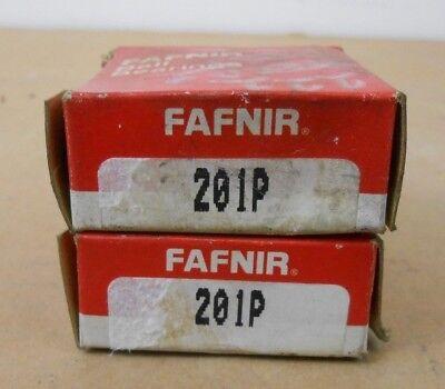 Lot Of 2 Nib Fafnir 201p Deep Groove Ball Bearing 12mm X 32mm X 10mm Single Seal