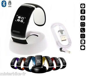 bracelet connect bluetooth led montre sportive podom tre smartphone ebay. Black Bedroom Furniture Sets. Home Design Ideas