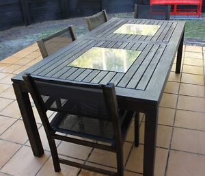 OUTDOOR TIMBER DINING SETTING Sunshine Beach Noosa Area Preview