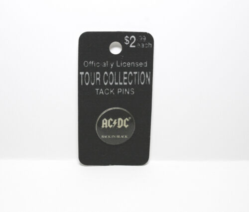 AC / DC  Back In Black Officially Licensed Tour Collection Tack Pins