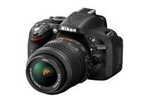 DSLR camera Nikon D5200 with Nikkor 18-55mm lens VR II
