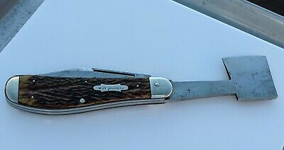 Rare Union Cut, Co. Olean NY USA Hatchet Knife Boy Scouts