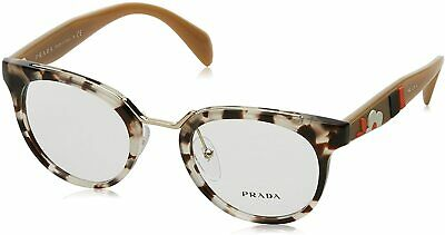 PRADA PR 03UV UAO1O1 Spotted Opal Brown Demo Lens 49 mm Women's Eyeglasses