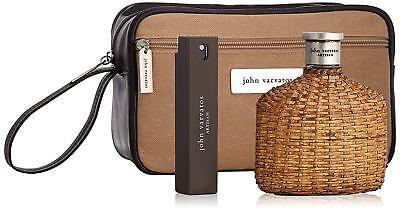John Varvatos Artisan 3 pcs Gift Set with 4.2 oz / 120 ml EDT + Bag + Mini New!