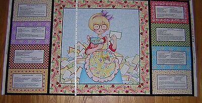 Mary Engelbreit Kitchen Capers Unfinished Cotton Fabric Panel