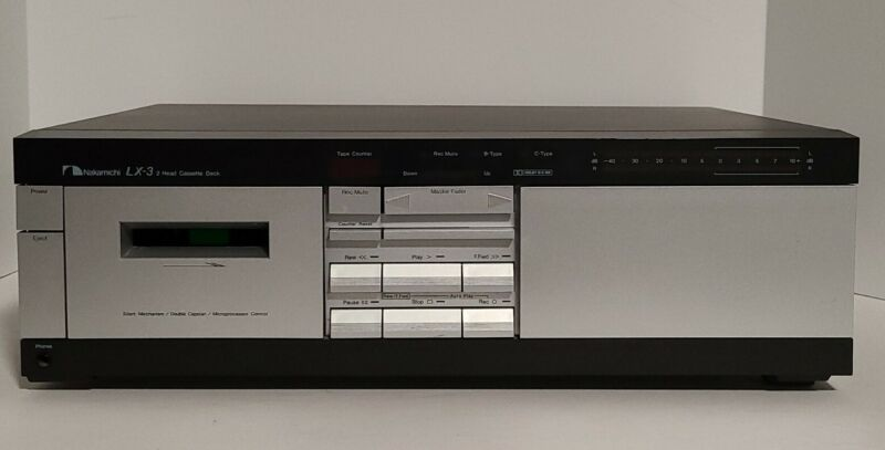 Nakamichi LX-3  2 head Cassette deck 1980s Powers On