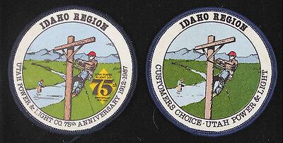 2 Utah Power   Light  Idaho Region  75Th Anniversary  3 Inch Patches