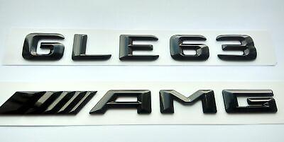 Mercedes GLE63 AMG schwarz glanzend Schriftzug-Embleme