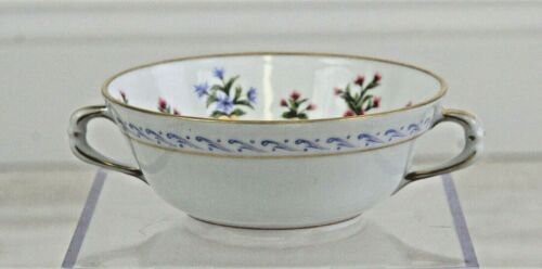 Bernardaud Limoges CHATEAUBRIAND Cream Soup Double Handled Bowl /r