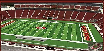 San Francisco 49ERS Levis Stadium SBL Row 7 SIDELINE Set of TEN Seat Licenses 10