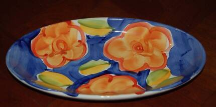 PRIMO Handpainted Small Oval Serving Platter - VGUC