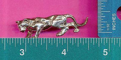 lead free pewter cougar figurine C3080