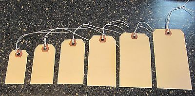 100 AVERY MANILLA PRE STRUNG SHIPPING HANG TAGS SCRAPBOOK INVENTORY STRING LABEL ()