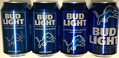Bud Light Detroit Lions 2016, 2017, 2018 or 2019 Ltd Ed NFL empty beer can BotOp
