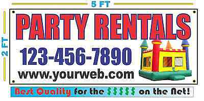PARTY RENTALS w/ Custom PHONE & Web Banner Sign Best Quality of the $$$ - Custome Rentals