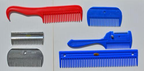 "Grooming Comb Set, Stripping Comb, 4""& 9"" Poly Comb, Alum. Mane Comb & Pulling"