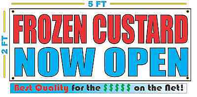 Frozen Custard Now Open Banner Sign New Larger Size Best Quality For The