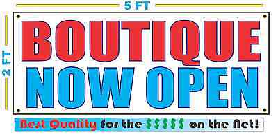 BOUTIQUE NOW OPEN Banner Sign NEW Larger Size Best Quality for the