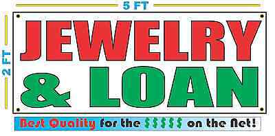 Jewelry Loan Banner Sign New Larger Size Best Quality For The