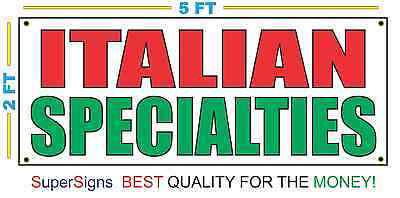 Italian Specialties Banner Sign New Size For Restaurant Stand Store Shop