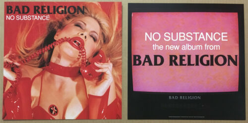 BAD RELIGION Rare 1998 Set of 2 DOUBLE SIDED PROMO POSTER FLAT For Substance CD