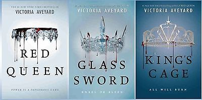 Red Queen Series Collection Set Books 1-3 Hardcover Victoria Aveyard BRAND NEW!
