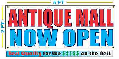 ANTIQUE MALL NOW OPEN Banner Sign NEW Larger Size Best Quality for The
