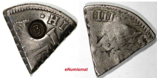 """CURACAO SILVER 3 Real ND(1819-1825) C/M """"3"""" on 1/5 8 reales of Carlos IIII RARE"""