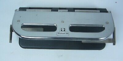 Vintage 3 Hole Paper Punch Mutual 300 Heavy Duty Fully Adjustable