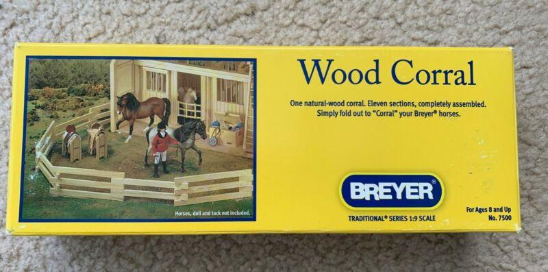 Breyer Horse Wood Corral - 8 foot long - Original Packaging