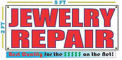 Jewelry Repair Banner Sign New Larger Size Best Quality For The Pawn