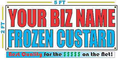 Custom Name Frozen Custard Banner Sign New Larger Size Best Quality For The