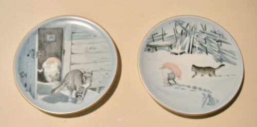 Bing & Grondahl~Harald Wiberg~Gnome & Tabby Cat Plate - 2